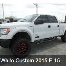 White Custom 2015 F-150