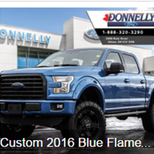 Custom 2016 Blue Flame Metallic