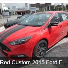 Red Custom 2015 Ford Focus