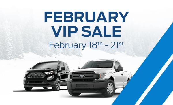 February VIP sale, February 18th - 21st