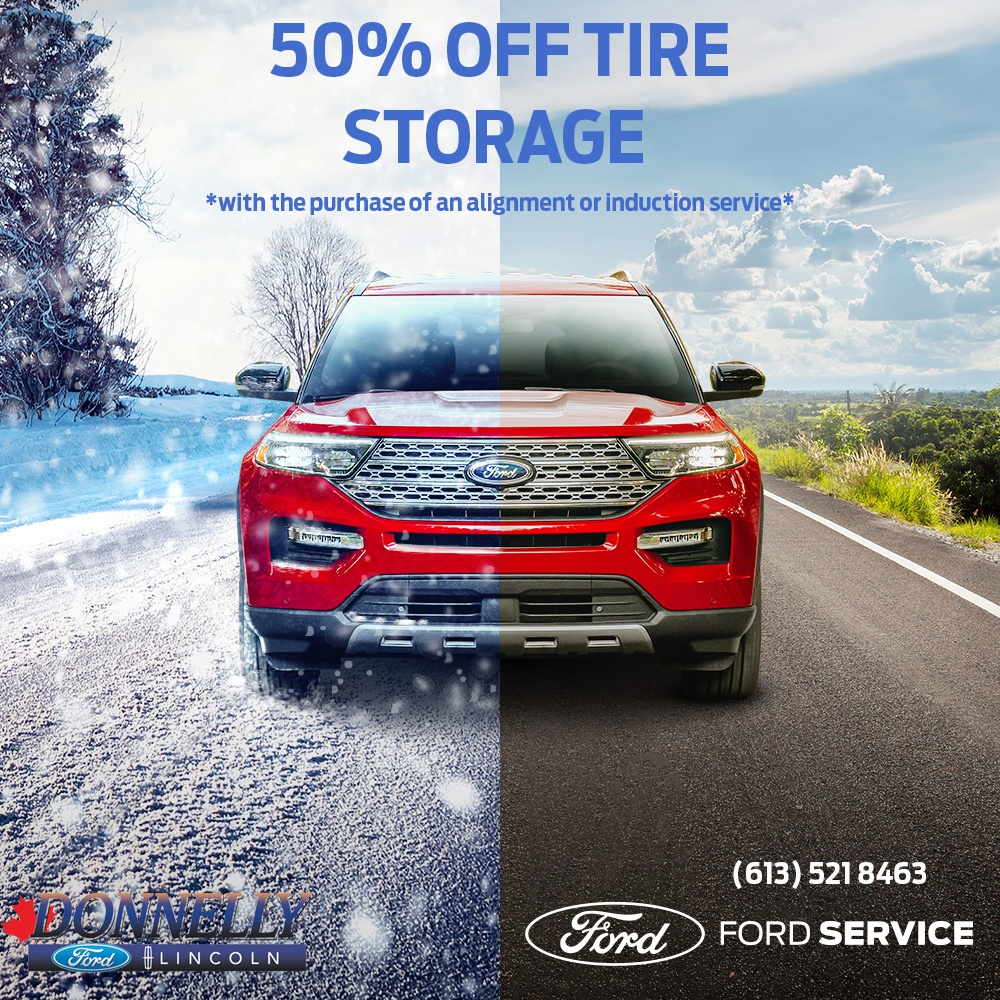 50% OFF TIRE STORAGE SPECIAL!