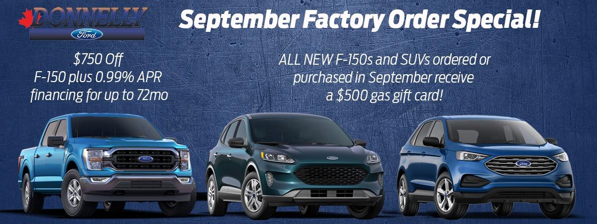 September Factory Order Sale